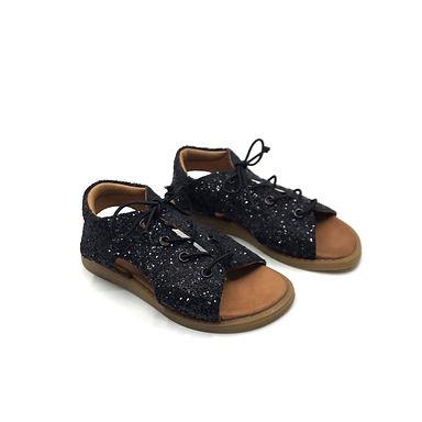 Siyah Parlak Sandalet 27 Numara