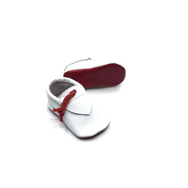 Beyaz Kırmızı Rectangle Moots Play Moccs