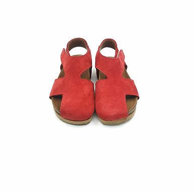 Kırmızı Hakiki Deri Moots Sandalet
