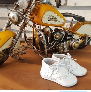 White Leather Oxford