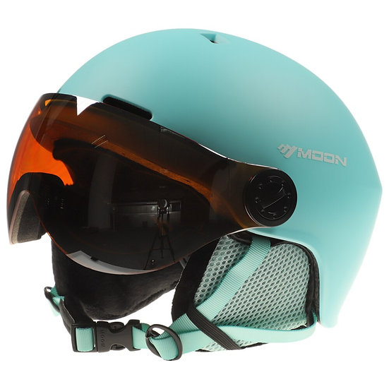 Men Women Ski Snowboard Helmet With Earmuff Goggle Safety