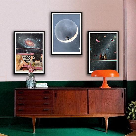 """Space Lovers"" Set of 3 Printable Wall Art"