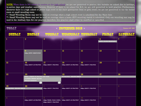 Bandit Schedule Updated!!