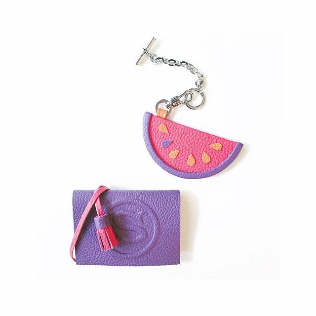®_🍉_suika charm_violet x coral x orange