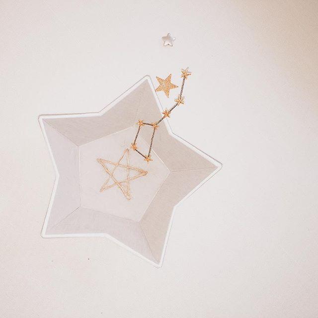 星型のトレイ⭐️ #星 #etoile #cartonnage #リネン #ladroguerie