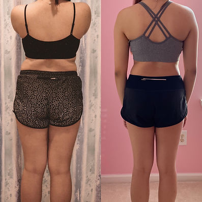 Before & after, fitness transformation.J