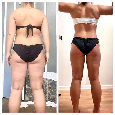 Before & after, fitness transformation