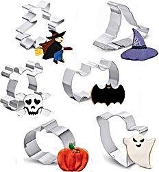 Lot de 6 emporte-pièces en acier inoxydable pour Halloween