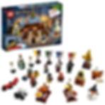 LEGO - Calendrier de l'Avent Harry Potter 2019, 24 Cadeaux Avant Noël Inclus 7 Figurines Jeux de Construction, 75964, Multicolore