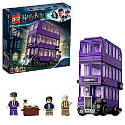 LEGO-Le Magicobus, Bus Violet à 3 Niveaux, Inclus 3 Figurines, Inspiré du Film Harry Potter Jeu d'Assemblage, 75957, Multicolore