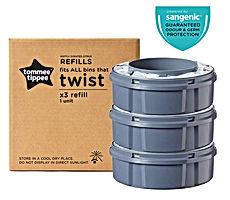Tommee Tippee Twist et click Sangenic Set de 3 Recharges