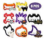 8 Pièces Ensemble d'Emporte-Pièces Halloween Moules à Emporte-Pièce de Cookie