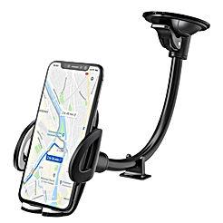 IZUKU Support Telephone Voiture Ventouse Support Portable Voiture pour Pare-Brise avec Rotation 360°[Garantie à Vie] pour iPhone X/8/7/6,Samsung S8/S7, Huawei, Xiaomi, Smartphone et GPS Appareils