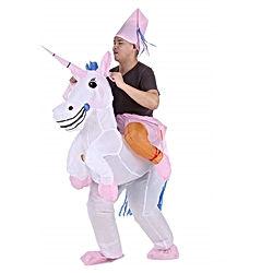 Anself Costume de Gonflable de Drôle Licorne Costume Déguisements Blowup Pegasus Tenue Saut Amorcer pour Hommes Femmes dans la Fête et Halloween