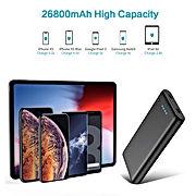 Trswyop Batterie Externe 26800mAh, Chargeur Portable [4 LED Indicateurs de Niveau de Charge] Ultra-Haute Capacité Power Bank avec 2 USB Ports Batterie de Secours pour Smartphones et Tablettes