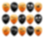 THE TWIDDLERS 100 Ballons de Baudruche d'halloween en Latex