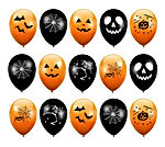 THE TWIDDLERS 100 Ballons de Baudruche d'halloween en Latex