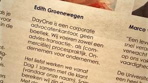 Edith Groenewegen in het financieele dagblad