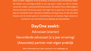 Start at DayOne: DayOne zoekt 3 advocaten!