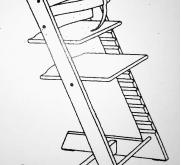 Poten onder vormmerk Tripp Trapp-stoel weggezaagd