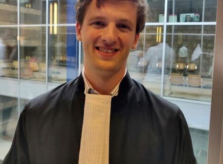 Sebastiaan van Wijk beëdigd als advocaat