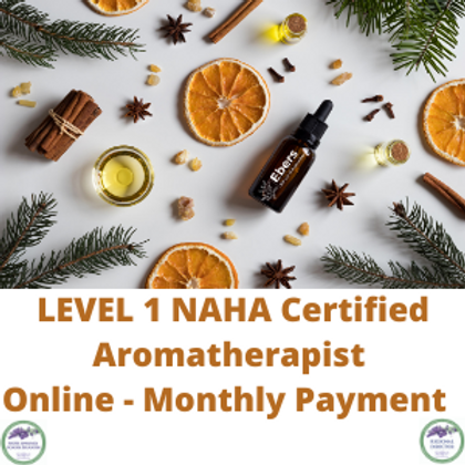Leve 1 NAHA certified Aromatherapist - 6 Month payment
