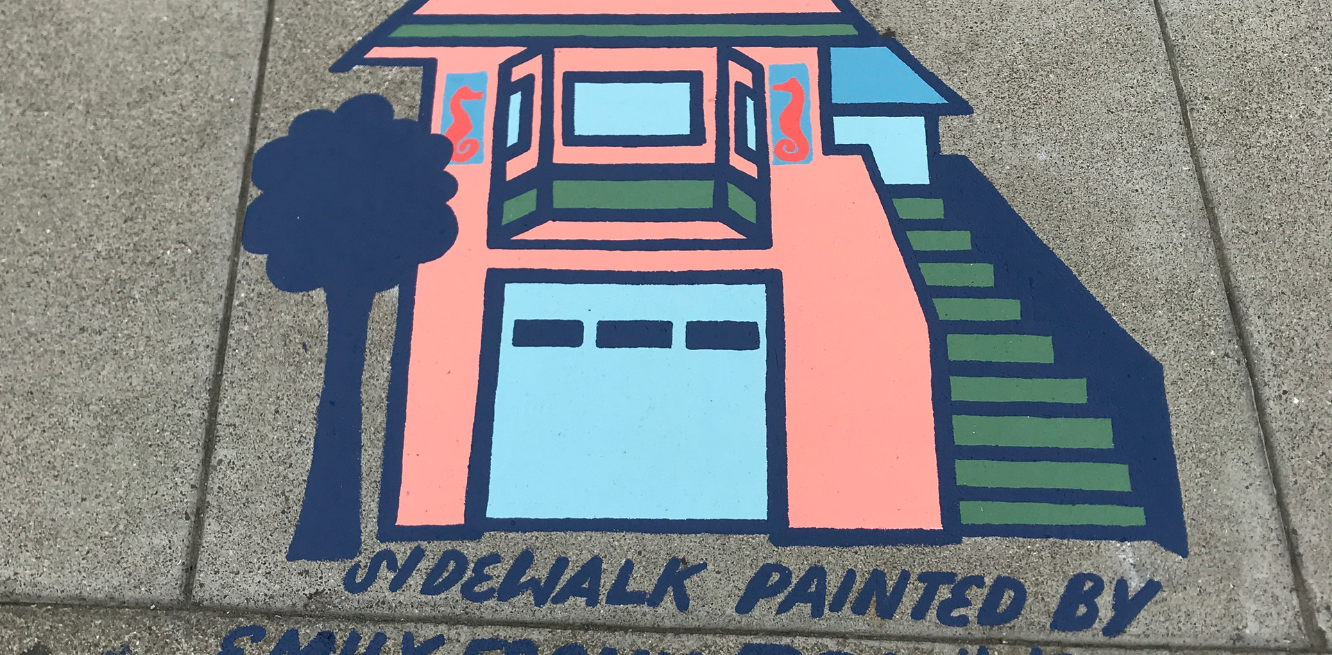 JAVA BEACH SIDEWALK ART