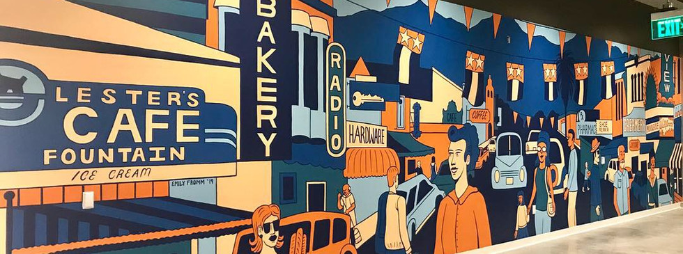 WEWORK MURAL, MOUNTAIN VIEW