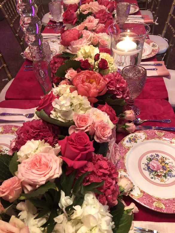 Table setting for birthday dinner