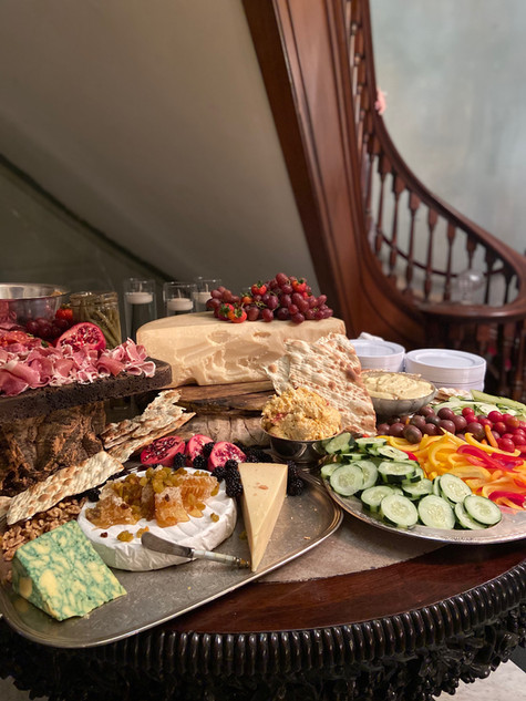 A reception should always have a charcuterie table