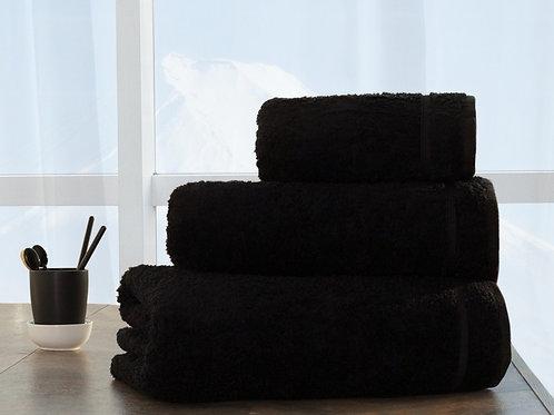 Полотенце бамбуковое, для лица, черный