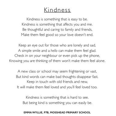 Emma Wyllie's poem