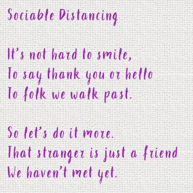 Sociable Distancing