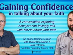 Gaining Confidence Training Session - Saturday, March 20