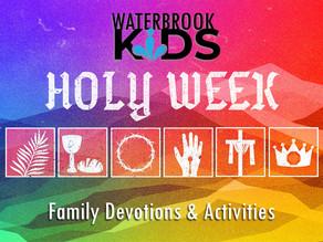 Waterbrook Kids Holy Week Activities