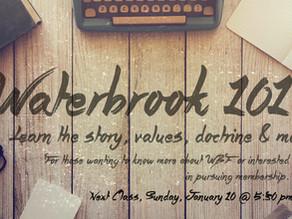 Waterbrook 101 Class