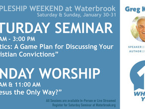 Discipleship Weekend with Greg Koukl - January 30-31 at Waterbrook