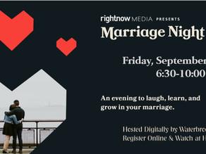 Waterbrook Hosts Digital MARRIAGE NIGHT - 9/24/21