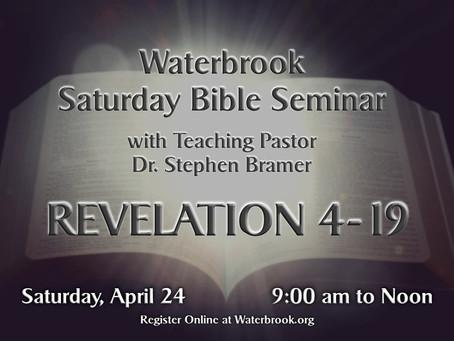 Saturday Seminar to Teach Revelation 4-19