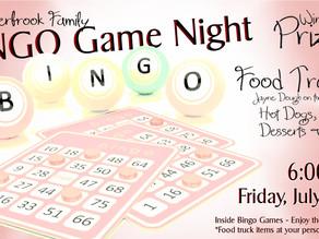 BINGO Game Night - Friday, July 23 @ 6 PM