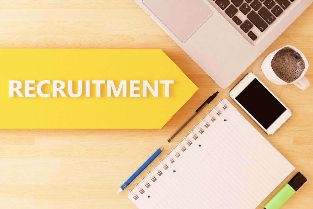 Recruitment-linear-text-arrow-concept-wi