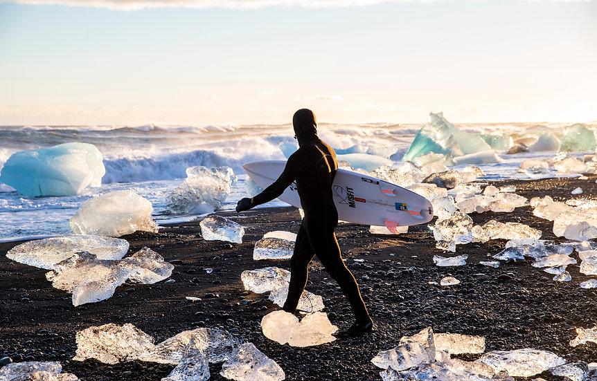 Walking on Ice, Iceland