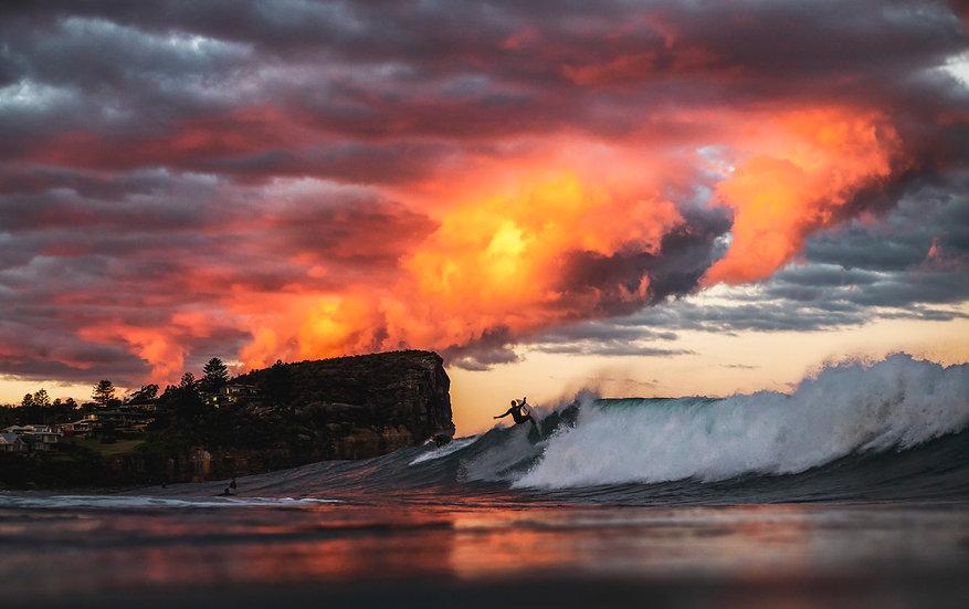 Avalon Beach Sunset