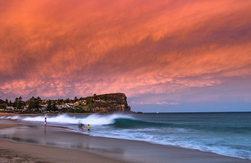 Family Sunset, Avalon Beach.