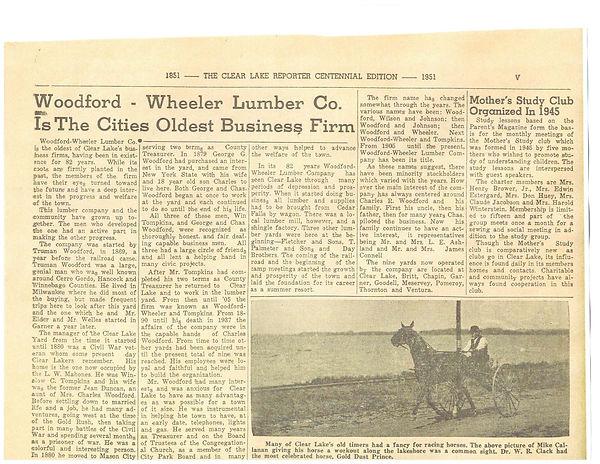 Woodford Wheeler Newspaper