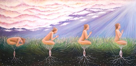Honoring Life, Cameron Grayson Acrylic on Canvas 24x48 2021 $3287.jpg