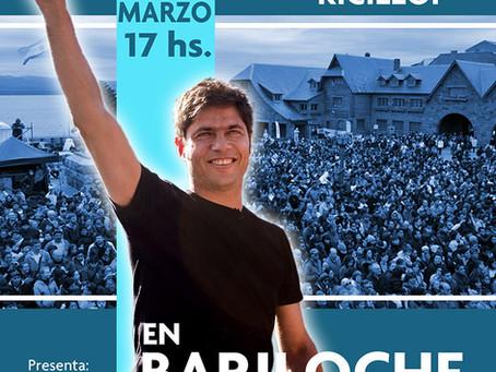 Axel Kicillof en Bariloche, 31/03