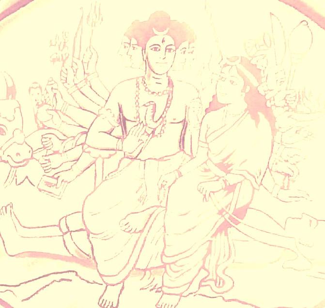 Rasabhairava and Rasamani /Paradgutika