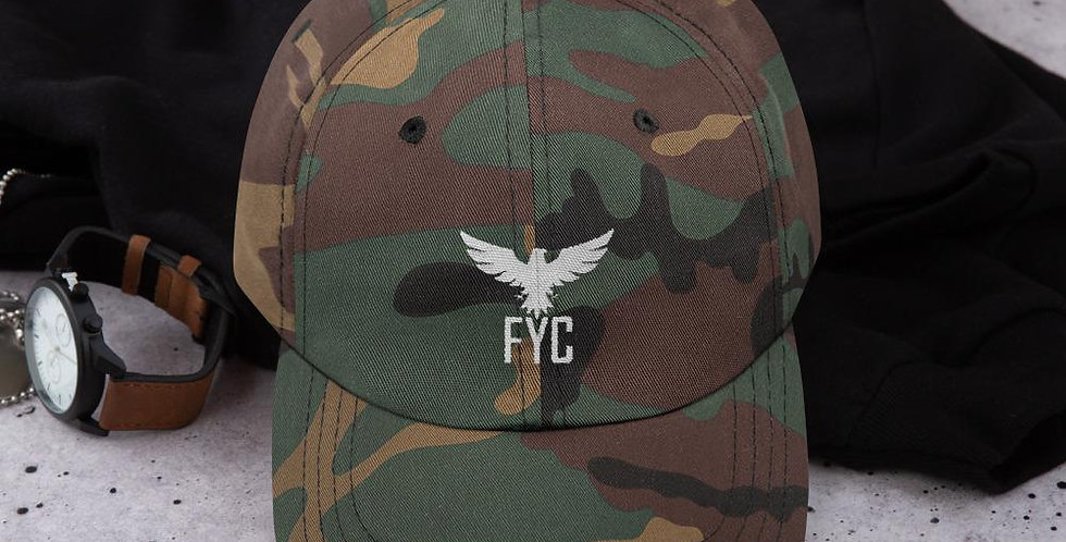 FYC Unstructured Sport Adjustable Hat (Camo & Black)