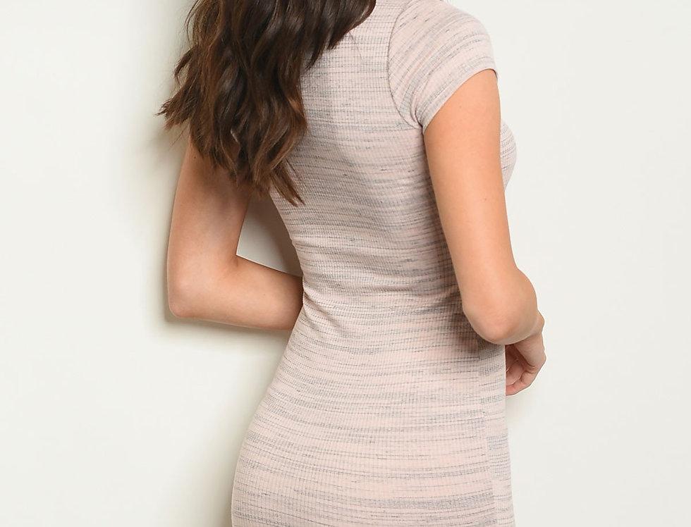 Womens Blush Black Dress